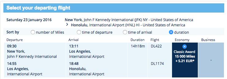 flyingblue-JFK-HNL