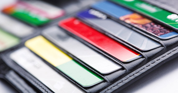 credit cards in your wallet
