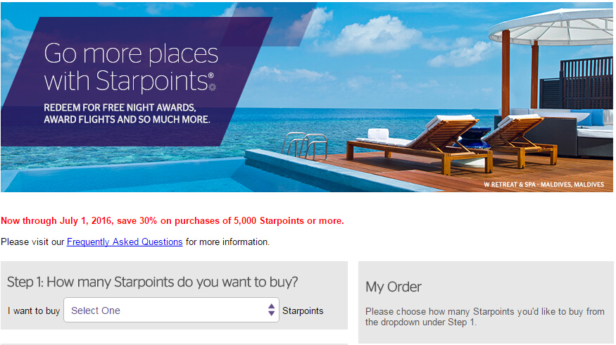 spg buy gift points 25 percent off