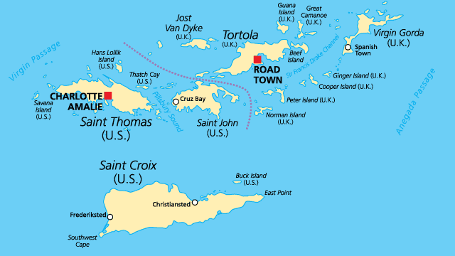 Distance From Cayman Islands To St Thomas